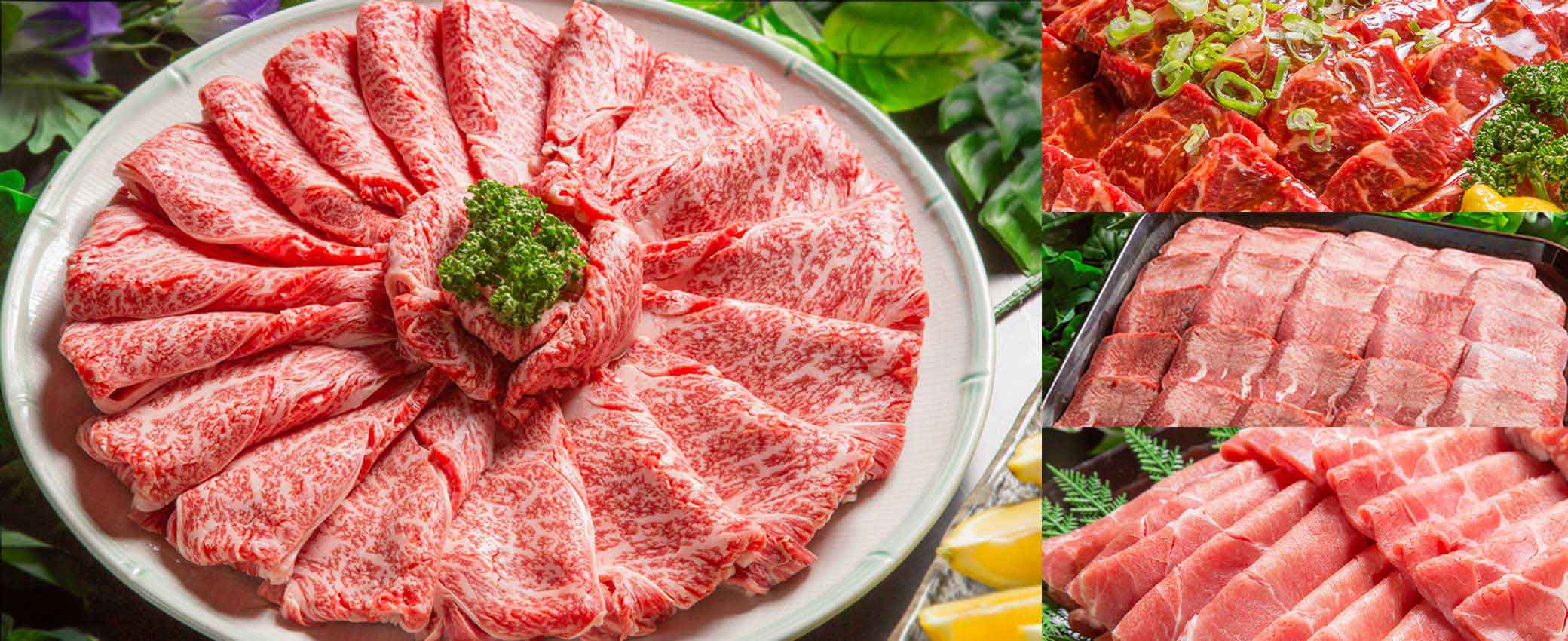 日本国産の黒毛和牛食べ放題