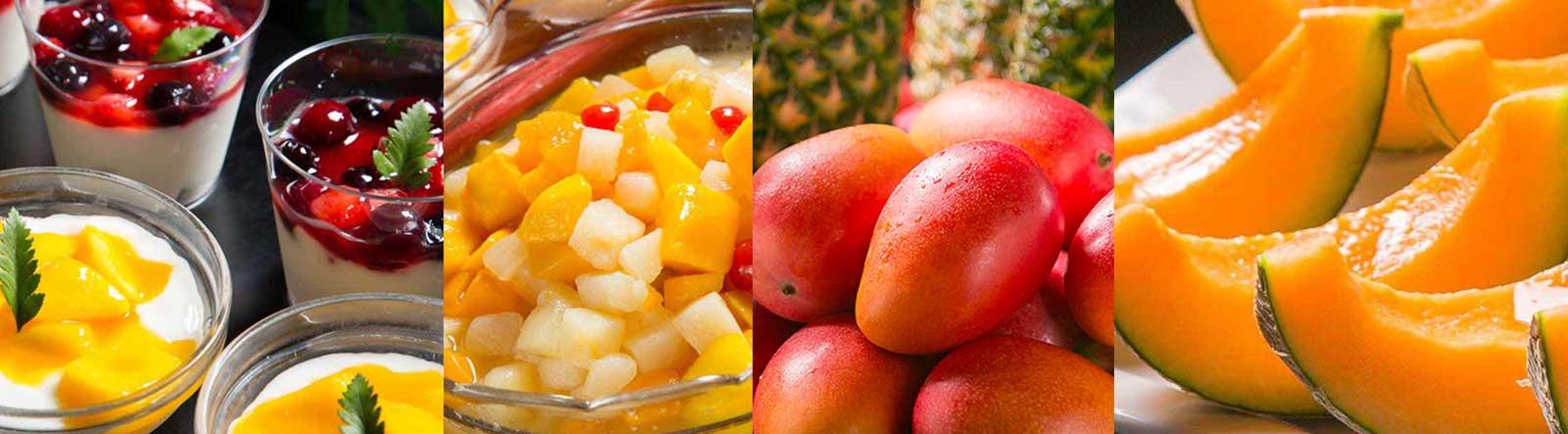メロン食べ放題(6月〜12月限定)・アップルマンゴー食べ放題/マンゴーヨーグルト